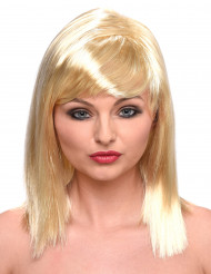 Parrucca bionda e liscia donna