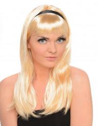 Parrucca lunga bionda donna