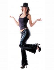 Pantaloni disco neri per donna
