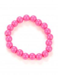 Bracciale di perle rosa adulto