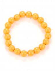 Bracciale di perle arancione adulto