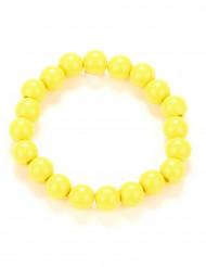 Bracciale di perle giallo adulto