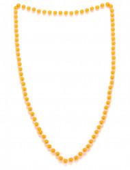 Collana di perle arancione per adulto