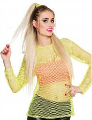 T-shirt giallo fluo Anni