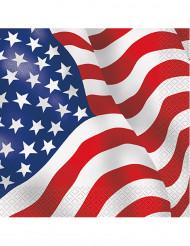 16 Tovaglioli di carta bandiera USA Design