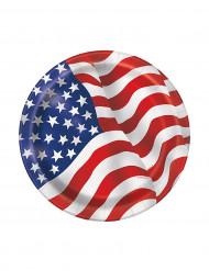 8 piatti di cartone bandiera USA