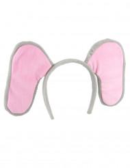 Cerchietto con orecchie da elefante per adulto