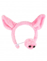Cerchietto e naso da maiale per adulto
