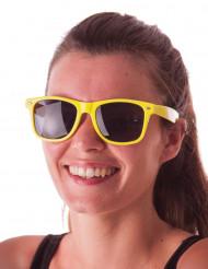 Occhiali giallo fluorescente per adulto