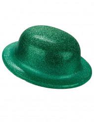 Bombetta verde con paillettes per adulto