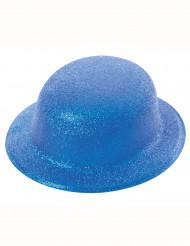 Bombetta blu con paillettes per adulto