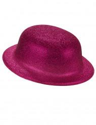 Image of Bombetta rosa con paillettes per adulto