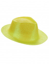 Image of Cappello giallo con brillantini per adulto