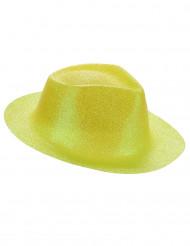 Image of Cappello giallo con brillantini per adulto