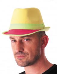 Cappello trilby giallo per adulto