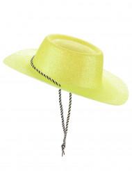 Cappello da cowgirl giallo con brillantini