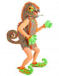 Costume da camaleonte multicolore per adulto