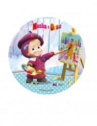 Disco decorativo per torta Masha e Orso™  21 cm