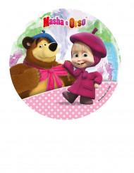 Disco decorativo in zucchero Masha e Orso™ da 21 cm