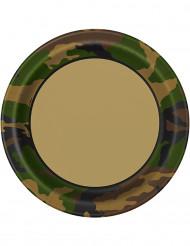 8 piatti militari di cartone