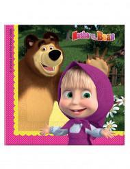 20 Tovagliolini di carta Masha e Orso™