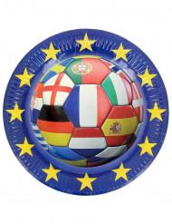 Confezione di 6 piatti Europei di calcio