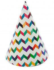 6 cappellini per feste multicolori