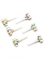 6 Lingue di Menelik multicolori motivo zigzag