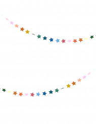 Ghirlanda di stelline multicolori 3 m