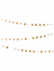 Ghirlanda con mini stelle dorate 3 m