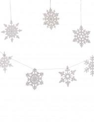 8 Fiocchi di neve argentati da appendere