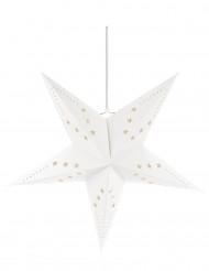 Decorazione da appendere stella bianca