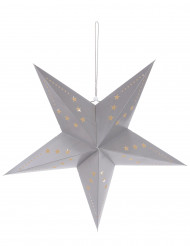 Lanterna a forma di stella grigia