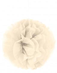 Ponpon di carta color crema da appendere 35 cm