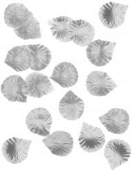 100 petali di rosa in tessuto argento