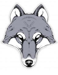 Maschera da lupo di carta