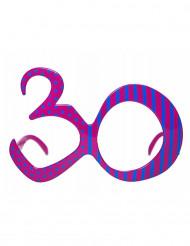 Occhiali fucsia per compleanno 30 anni