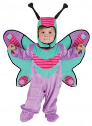 Costume da farfalla viola e verde per neonato