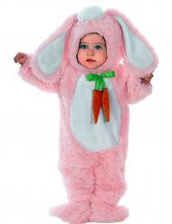 Costume da coniglietto con orecchie rosa per neonato