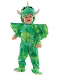 Costume da dinosauro verde per neonato