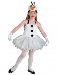 Costume pupazzo di neve bambina