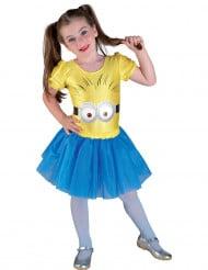 Costume  da bambina gialla con occhi