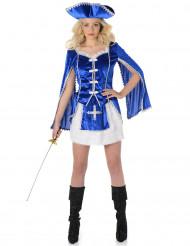 Costume da Moschettiere blu per donna