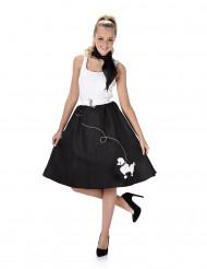 Costume anni 50 nero donna