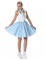 Costume anni 50 blu a pois donna