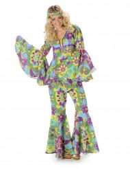 Costume da hippie floreale donna