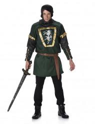 Costume da cavaliere verde per uomo
