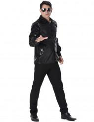 Camicia disco nera da uomo con paillettes