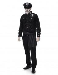 Costume ufficiale della polizia zombie uomo