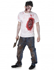 Costume zombie costole in lattice uomo